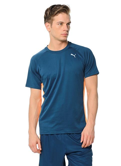 Puma Bisiklet Yaka Tişört Mavi